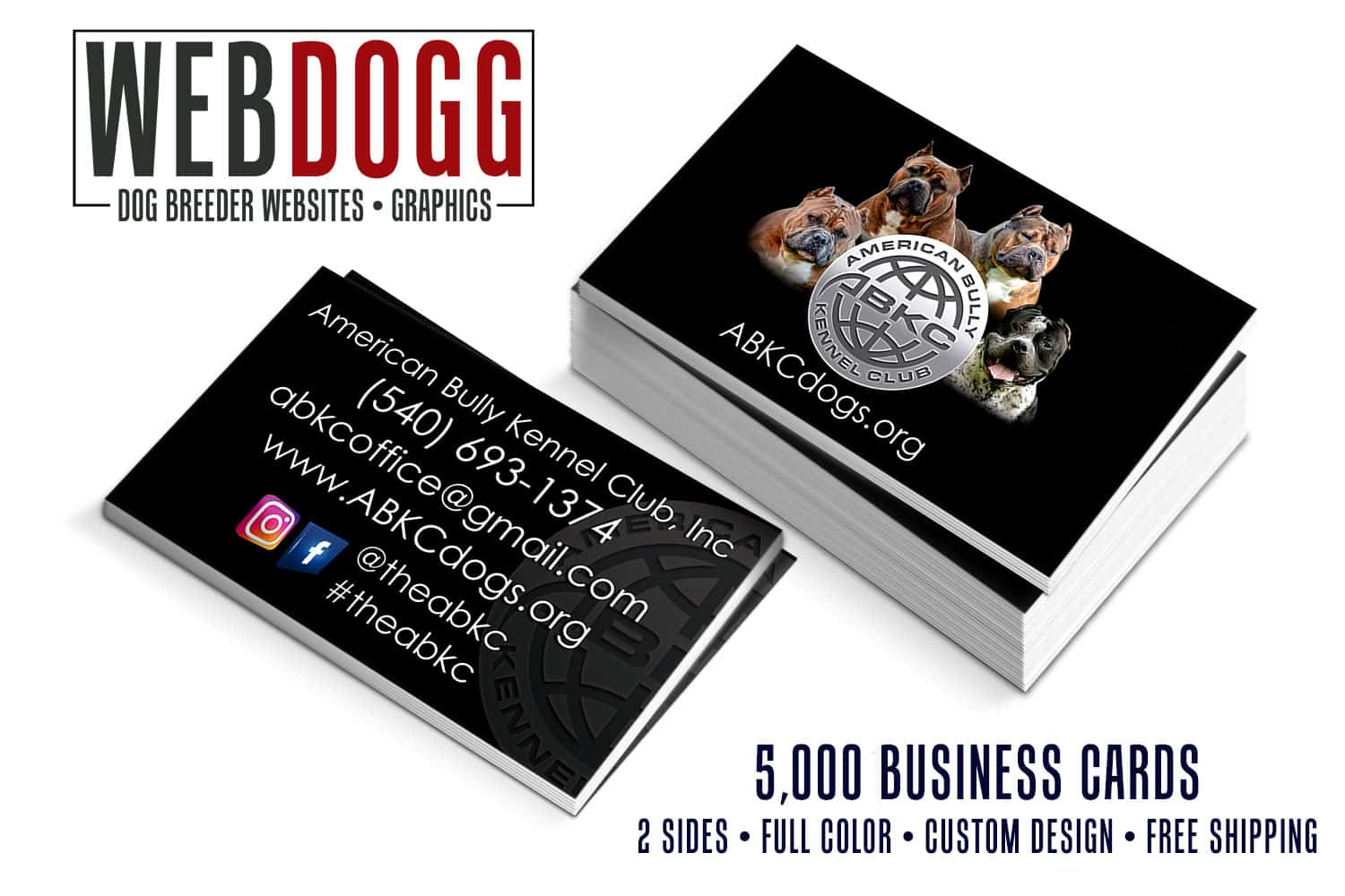 Dog business cards kennel business cards printing 1000 dog breeder business cards 99 reheart Gallery