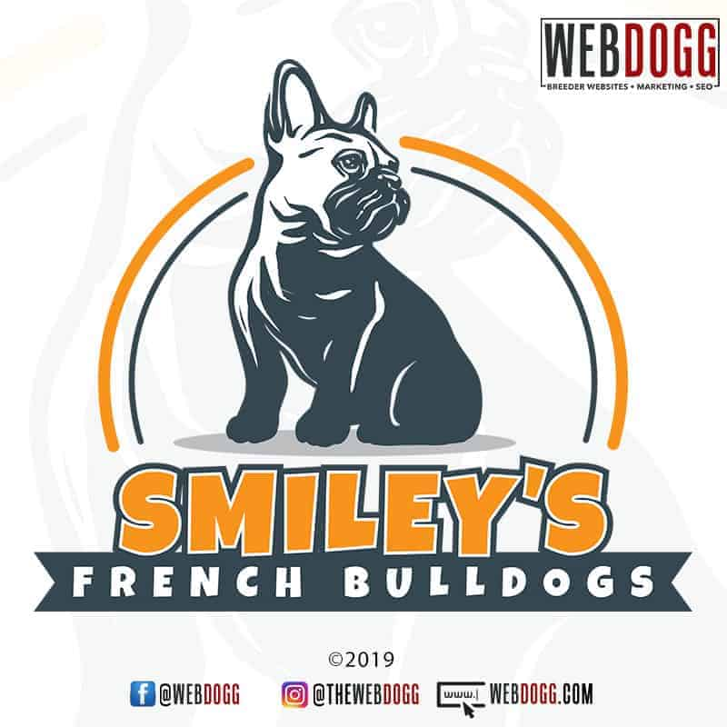 Smiley's French Bulldogs - Breeder Logo Design