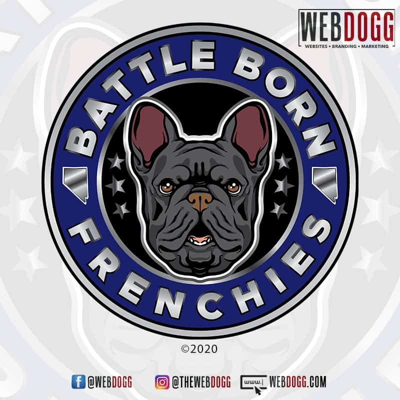 Battle Born Frenchies - Breeder Logo Design