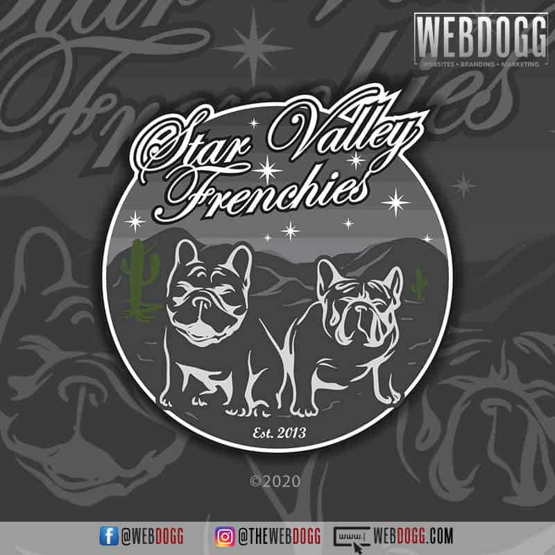 Star Valley Frenchies - Logo Design