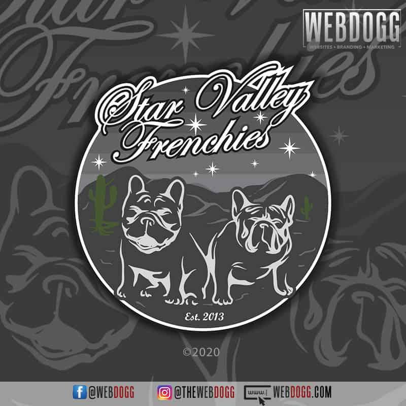 Star Valley Frenchies - Logo Design