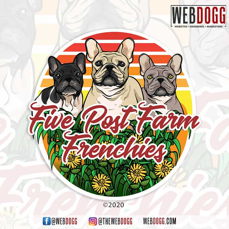 Five Post Farm Frenchies - Logo Design